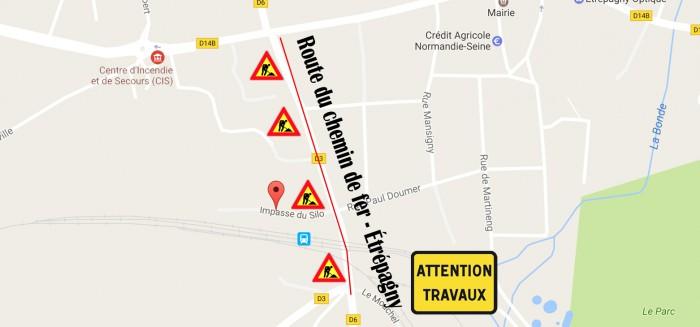 Etrépagny -Travaux Rue du Chemin de fer