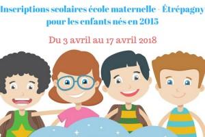 Étrépagny – Inscriptions école maternelle 2018