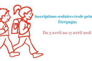 Étrépagny – Inscriptions école primaire – 2018