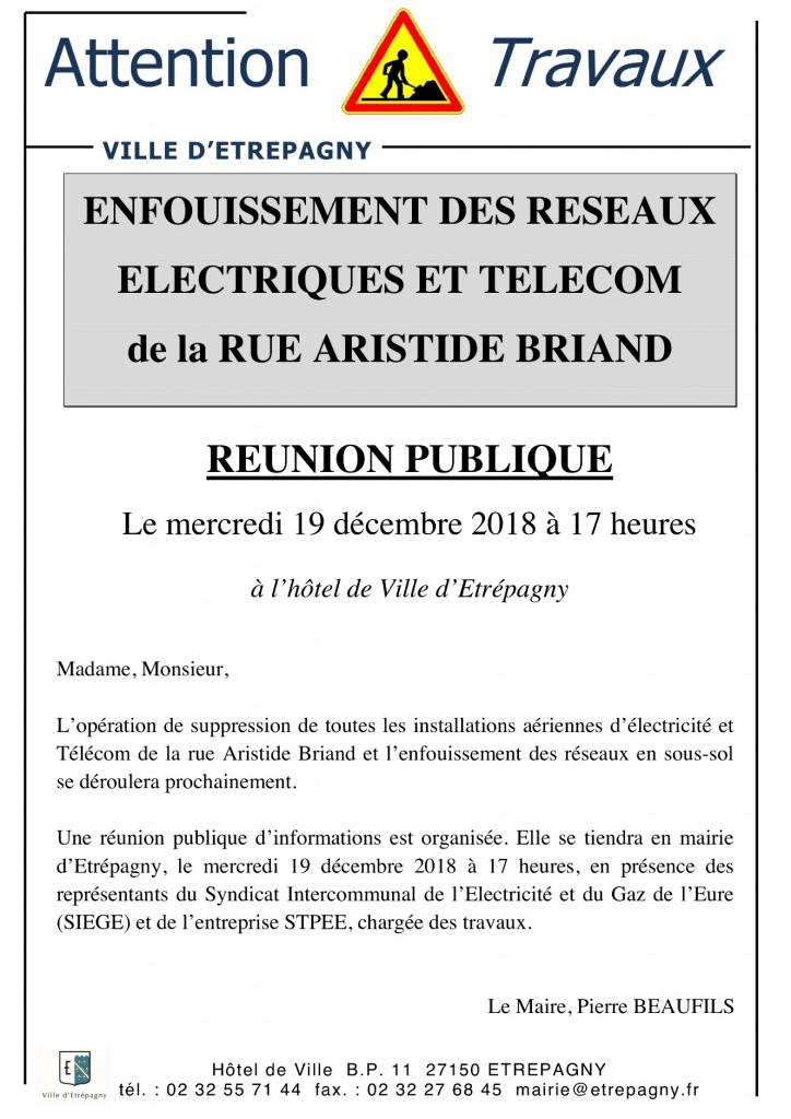 REUNION PUBLIQUE RUE A. BRIAND_ETREPAGNY 19 DECEMBRE 2018