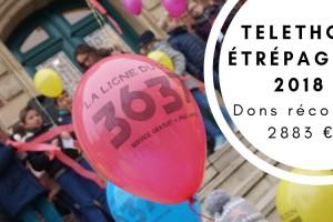 Étrépagny – Dons récoltés – Téléthon 2018