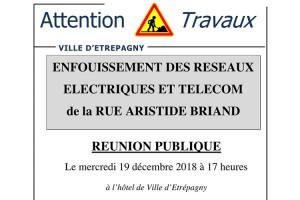 Étrépagny – Enfouissement des réseaux électriques et télécom – Rue Aristide Briand