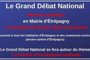 Grand Débat National – Étrépagny