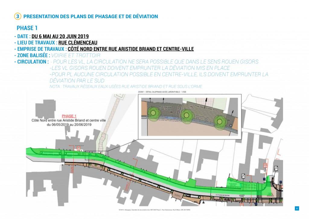 1-travaux rue clemenceau_phase 1 etrepagny_6 mai au 20 juin 2019