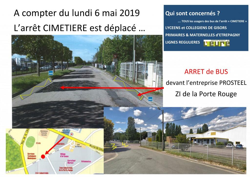 bus ARRET CIMETIERE etrepagny
