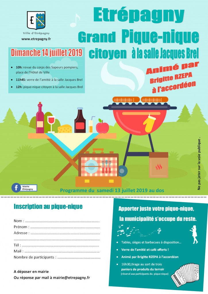 festivites 14 juillet 2019 - etrepagny