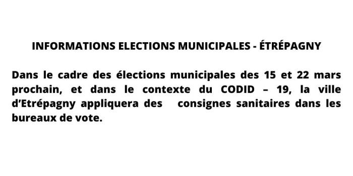 Information élections municipales – Étrépagny