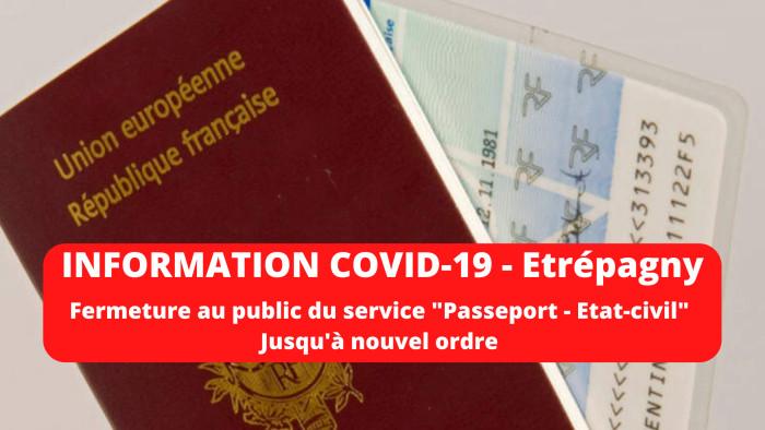 Étrépagny – Fermeture au public service «Passeport – État civil»