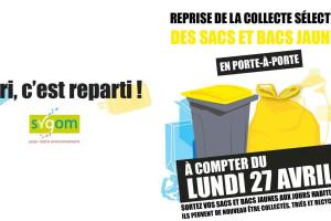 Étrépagny – Reprise collecte des sacs jaunes dès le 27 avril