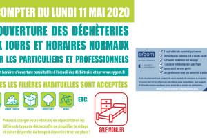 Réouverture Déchèterie Étrépagny – particuliers et professionnels -11 mai 2020