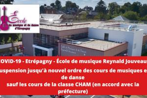 Covid19 – Ecole de musique et de danse Reynald Jouveaux