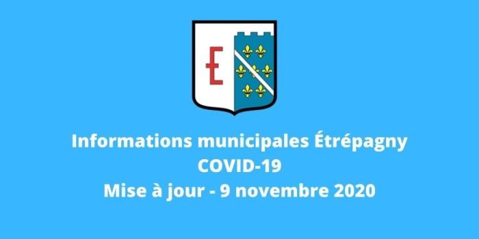 Étrépagny – Info covid-19 – 9 novembre 2020
