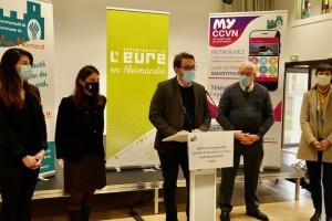 Étrépagny – Signature de la convention «Opération de Revitalisation des Territoires» (ORT) – 28 janvier 2021
