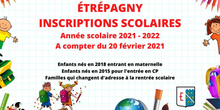 Étrépagny – Inscriptions scolaires 2021-2022