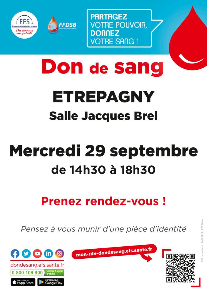 Étrépagny - Don de sang - 29 septembre 2021