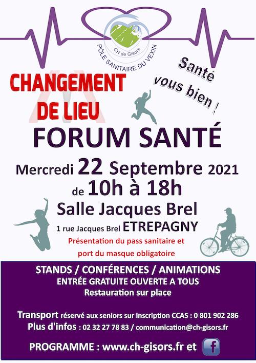 Étrépagny - Forum santé - 22 septembre 2021